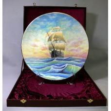 "Подарочная тарелка - ""Счастливого плавания"" ( 26см )"