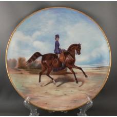 """Тарелка """"Амазонка на лошади"""" (24 см)"""