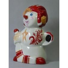 Фарфоровый снеговик вратарь