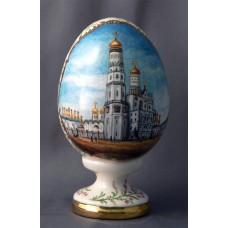 """Фарфоровое пасхальное яйцо. По сюжету гравюры 19 века """"Соборная площадь"""""""